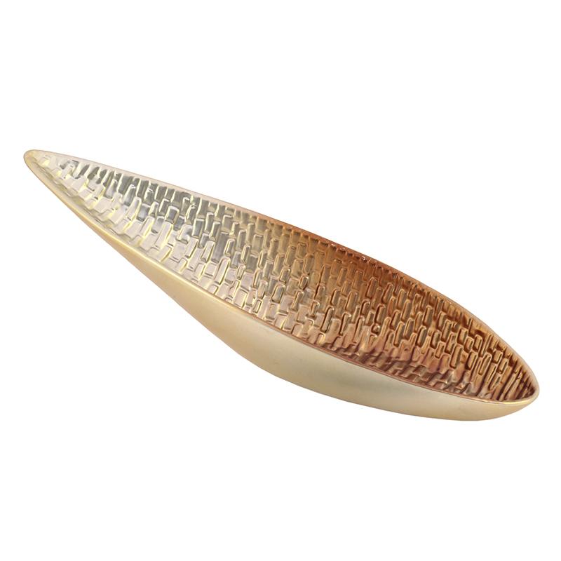 Πιατέλα κεραμική ασημί-χάλκινη 3-70-914-0253 inart