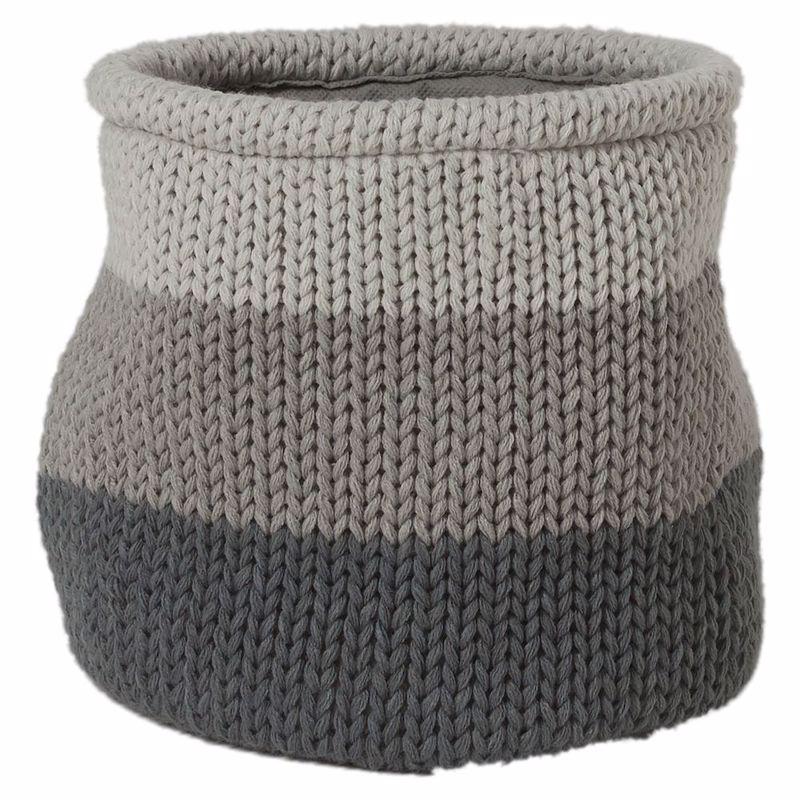 Καλάθι Απλύτων Knitted Grey 20X20 SealSkin