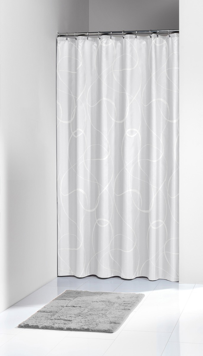 Πλαστική Κουρτίνα Μπάνιου Movement White 180X200 SealSkin