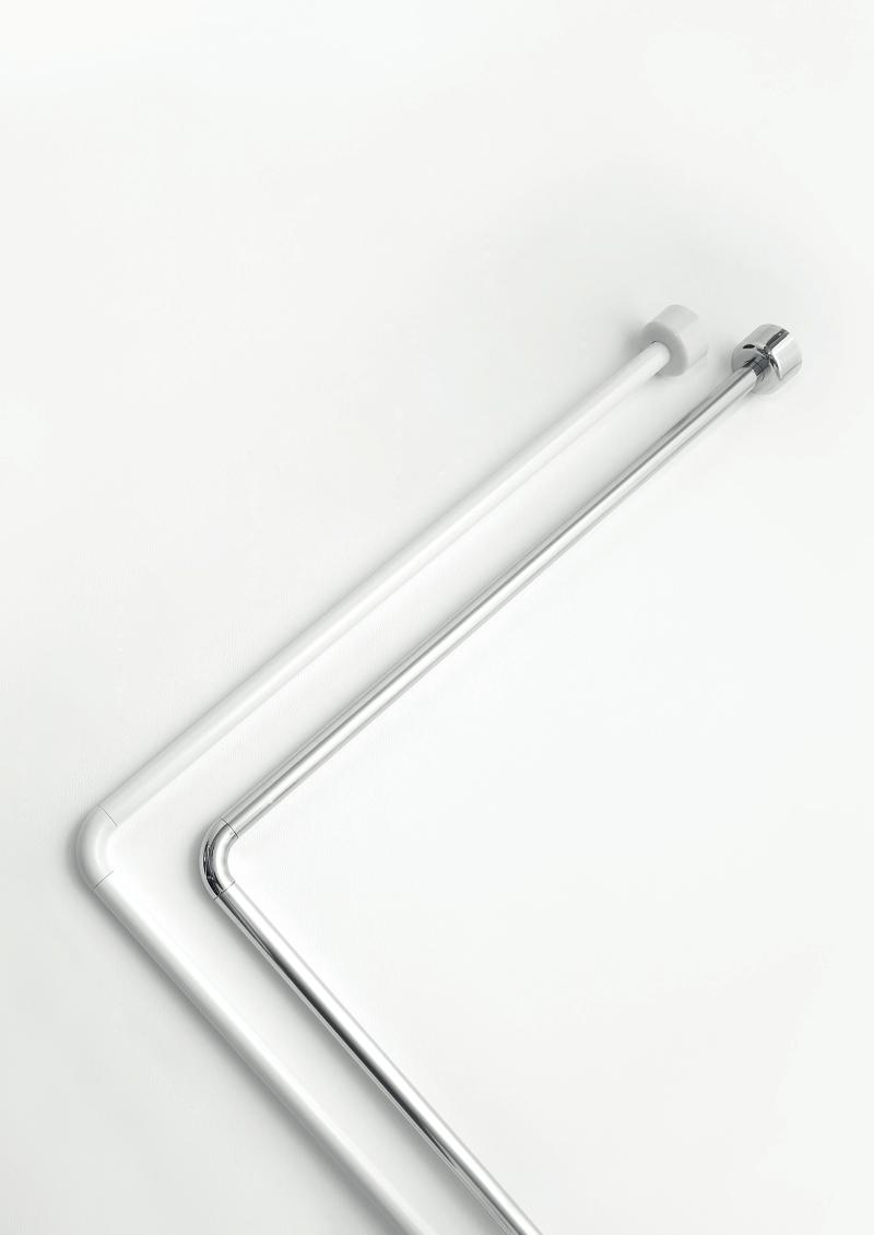 Βραχίονας μπάνιου γωνιακός σε διάσταση 0.80×1.70cm