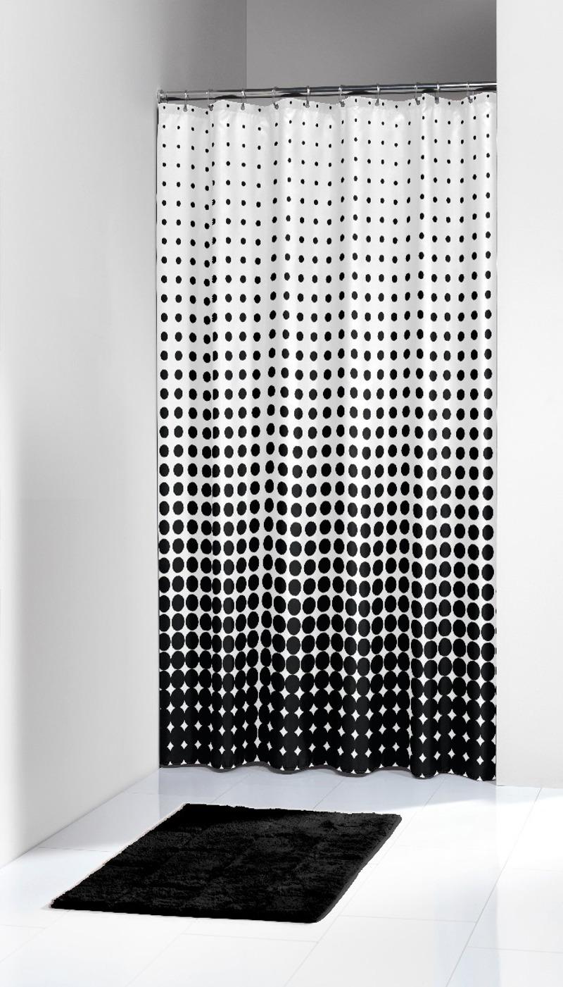 Υφασμάτινη Κουρτίνα Μπάνιου Speckles Black 180X200 SealSkin