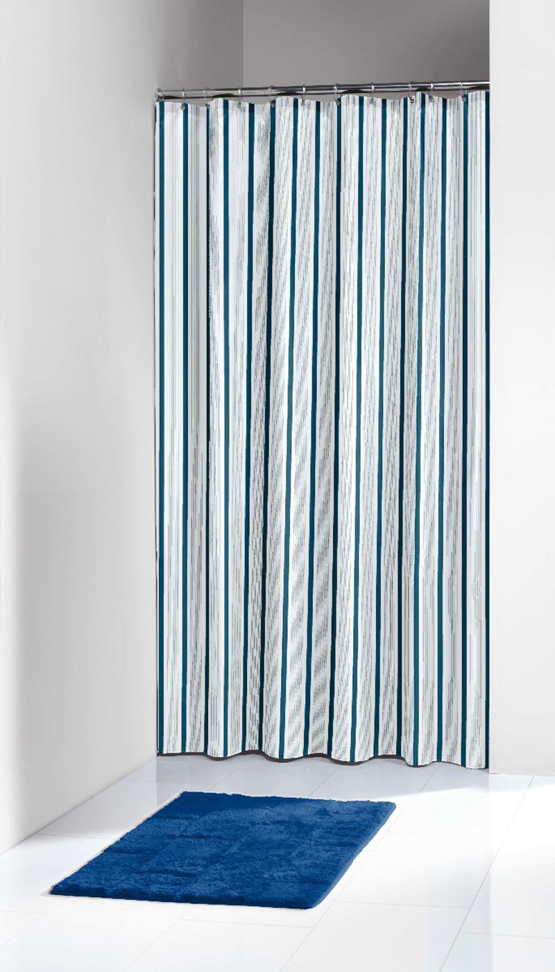 Πλαστική Κουρτίνα Μπάνιου Stripes Blue 180X200 SealSkin