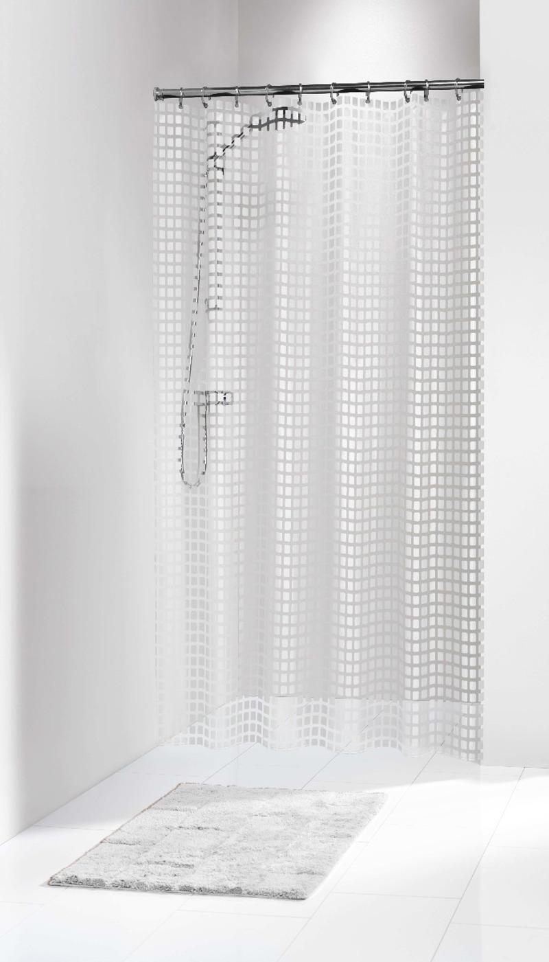 Πλαστική Κουρτίνα Μπάνιου Tiles White 180X200 SealSkin